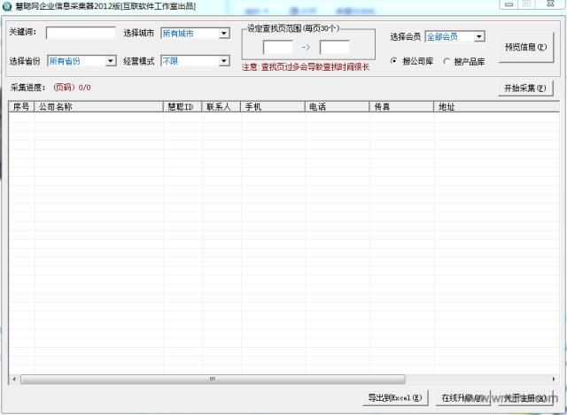 慧聪网企业信息采集器2012版软件截图
