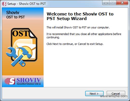 Shoviv OST to PST软件截图