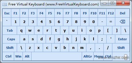 Free Virtual Keyboard软件截图