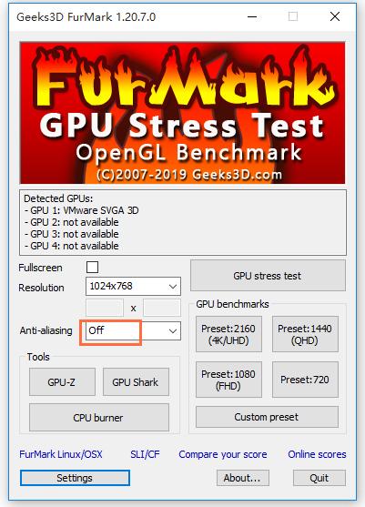 FurMark使用方法说明,电脑烤机必备软件