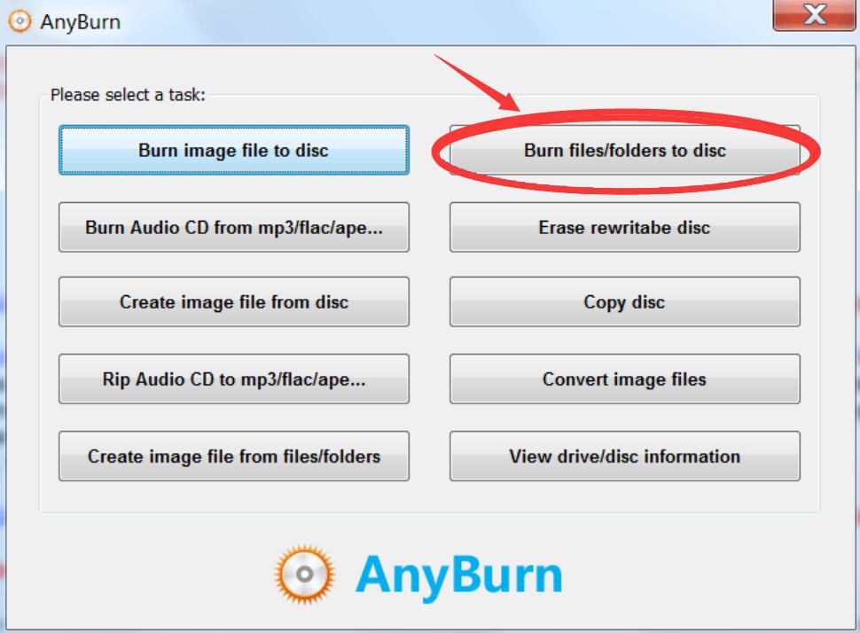 AnyBurn如何将数据刻录到光盘?数据光盘刻录方法