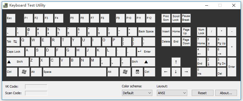 Keyboard Test Utility:电脑必备键盘测试软件,小体积、免安装