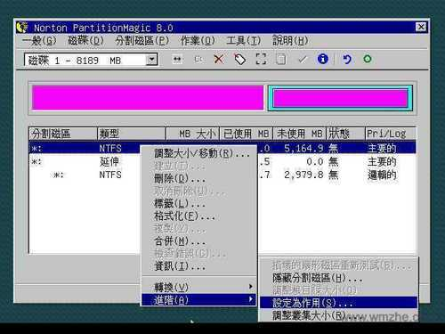 pq分區魔術師中文版軟件截圖