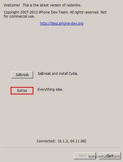 红雪越狱软件截图