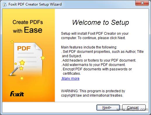 foxitpdfcreator软件截图