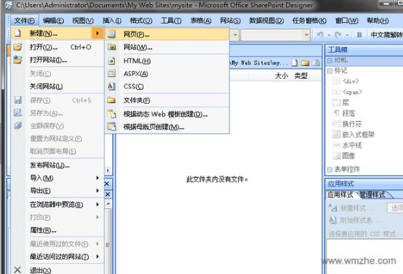 microsoft frontpage 2003软件截图