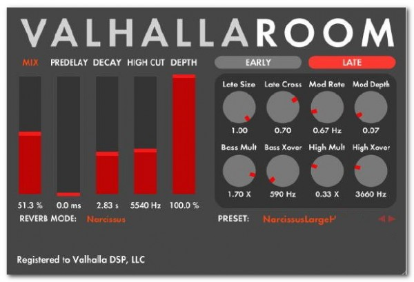 ValhallaRoom(混响效果器)