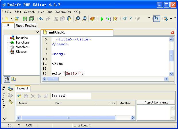 DzSoft PHP Editor的教程
