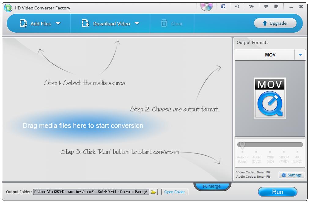 WonderFox Free HD Video Converter Factory的教程
