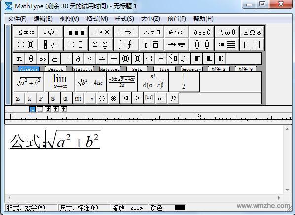 数学公式编辑器(MathType)软件截图