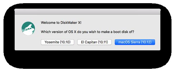 diskmaker x MacOS Sierra for Mac