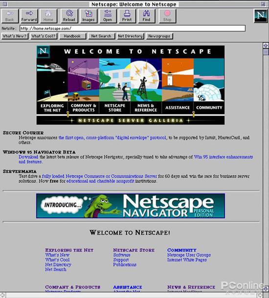 图3 Netscape浏览器