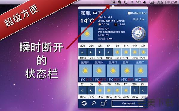 5天内的天气 for Mac