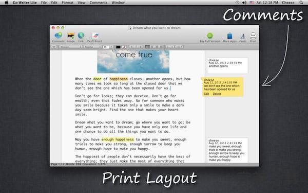 茄子文字 Lite for Mac