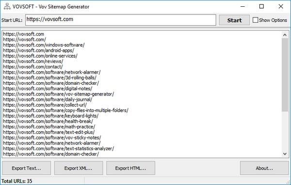 Vov Sitemap Generator(站点地图创建工具)