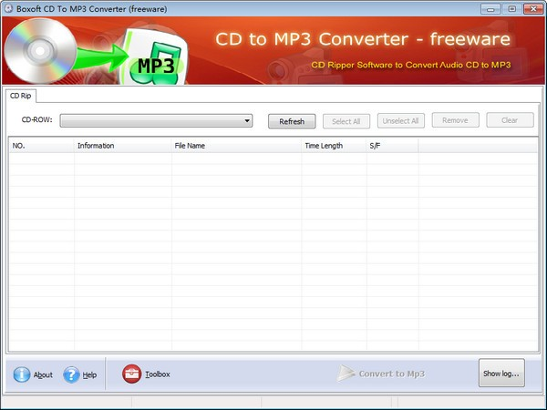 Boxoft CD to MP3 Converter截图