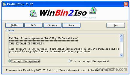 WinBin2Iso軟件截圖