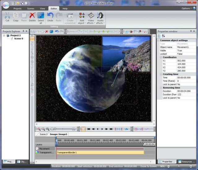 VSDC Free Video Editor的教程