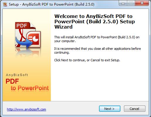 AnyBizSoft PDF to PowerPoint Converter的教程